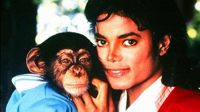 Майкл Джексон и Бабблз