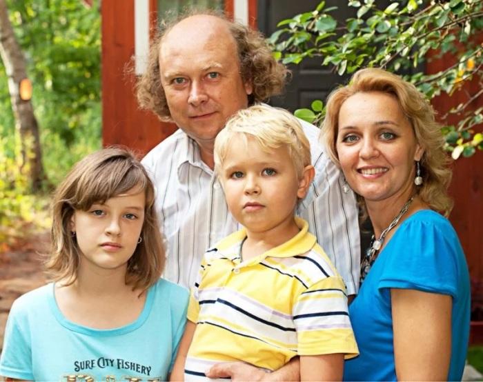 Татьяна Проценко со своей семьей