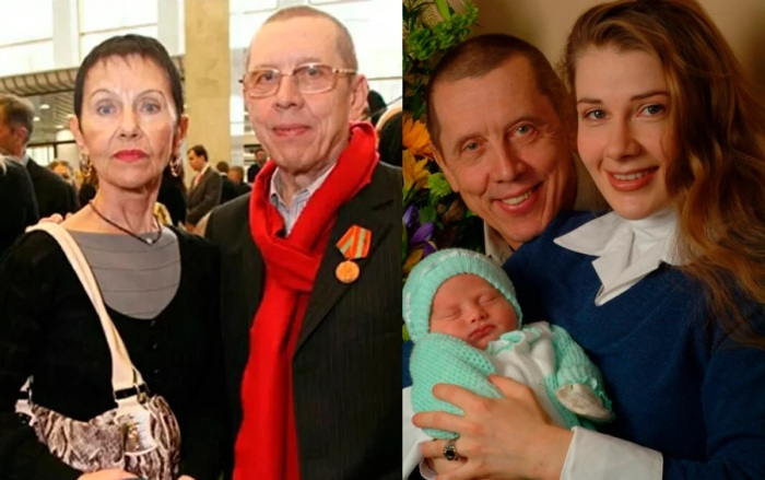 Валерий Золотухин с женой и Ириной Линдт