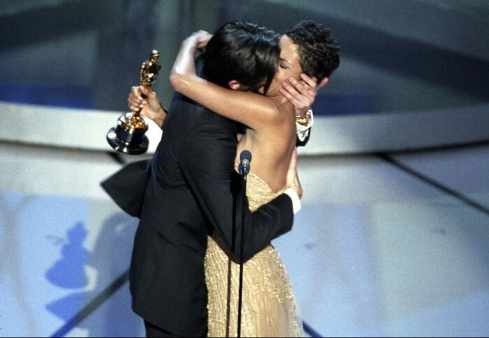 Эдриан Броуди на вручении Оскара