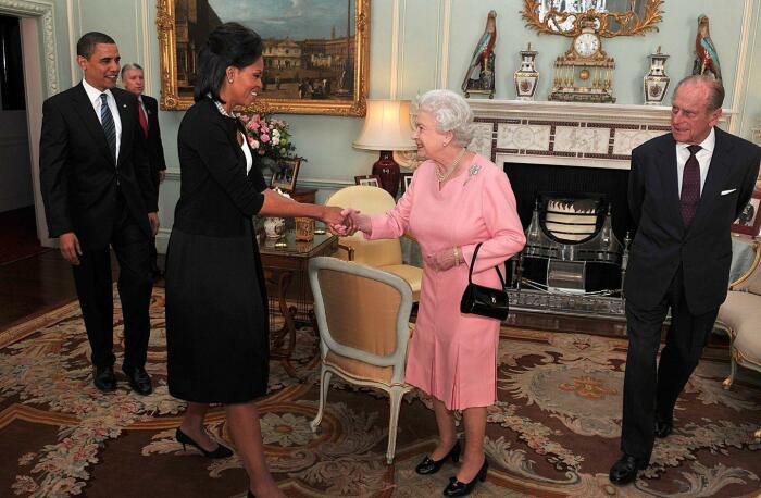 Мишель Обама и королева Елизавета II