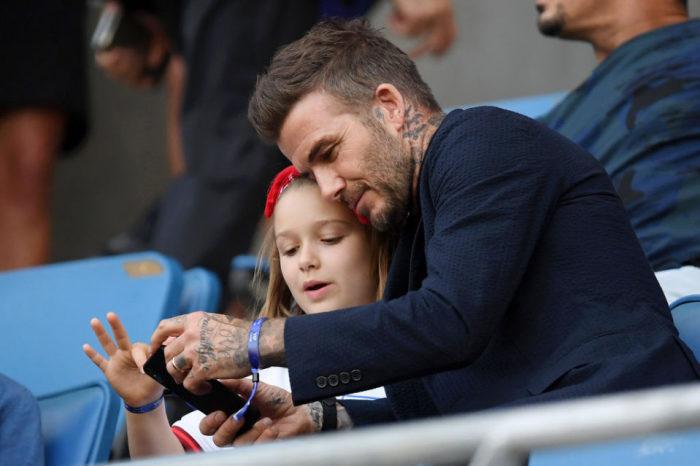 Дэвид Бэкхем с дочерью Харпер