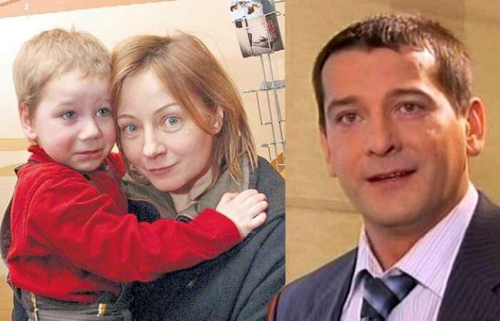 Евгения Добровольская с сыном и Ярослав Бойко
