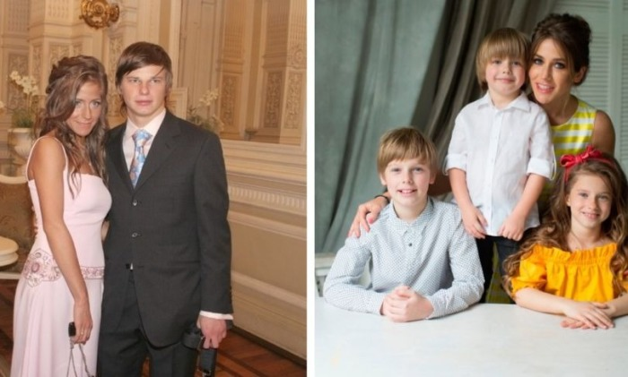 Юлия Барановская и Андрей Аршавин/Юлия Барановская с детьми