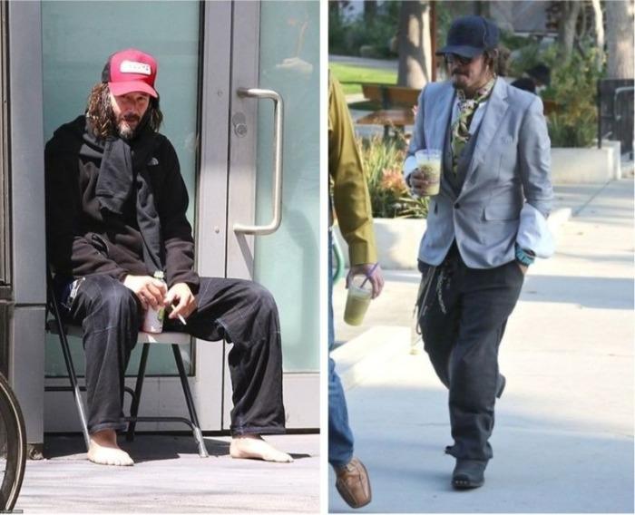 8 знаменитостей, которых на улице можно перепутать с бездомными: Киану Ривз, Джонни Депп и др