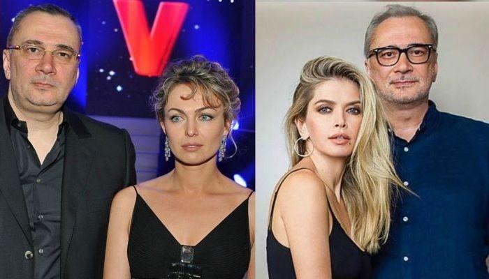 Константин Меладзе с бывшей женой Яной/Константин Менладзе и Вера Брежнева
