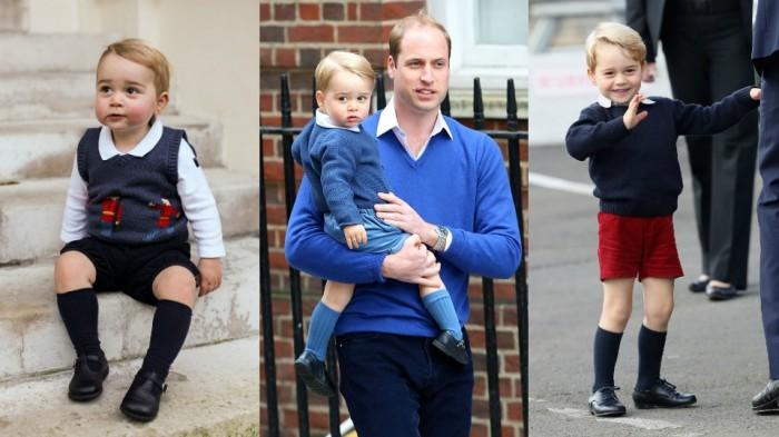 Принца Джорджа до 8 лет можно увидеть только в шортах