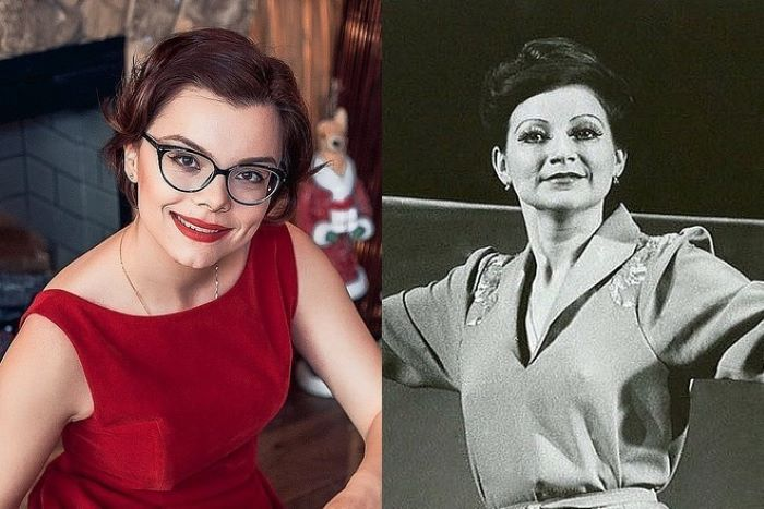 Татьяна Бурхунова и Елена Степаненко в молодости