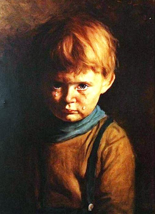 «Плачущий мальчик», Джованни Браголин (Бруно Амадио) (1950-е годы)
