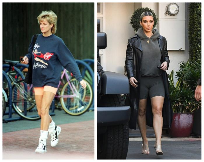 На ком велосипедки сидят лучше: на принцессе Диане или Ким Кардашьян?