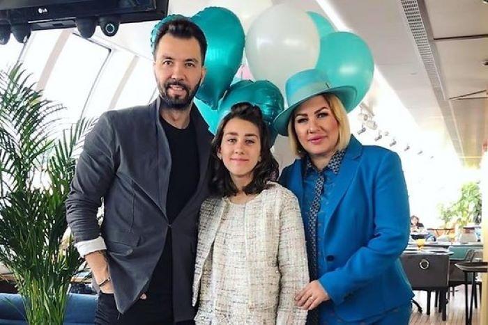 Ева Польна и Денис Клявер с дочерью