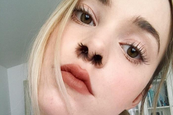 Вот так выглядят ресницы в носу