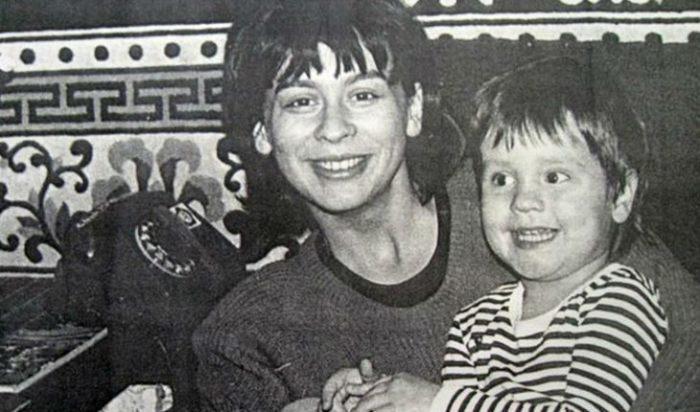 Эльмира Шевчук с сыном