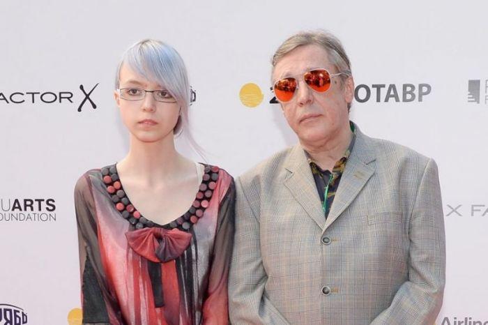 Михаил Ефремов с дочерью Анной Марией