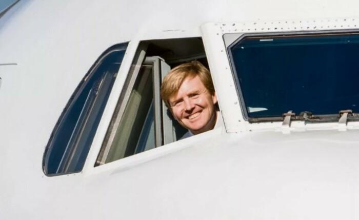 Король Нидерландов, он же пилот.