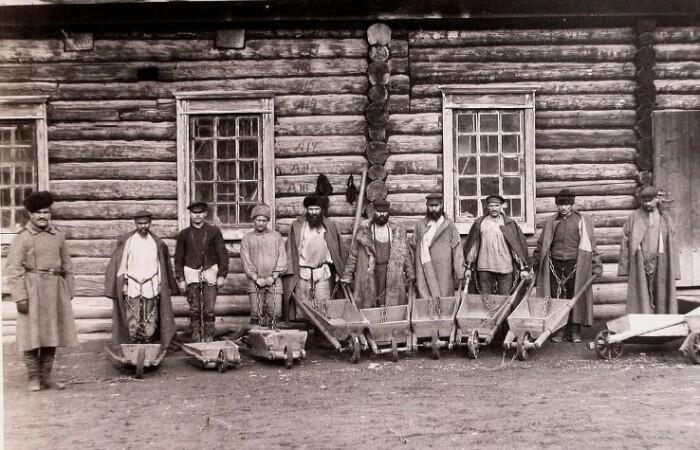 Каторжники 19 века.