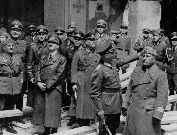 Поездка оказалась развлекательной для Гитлера и Муссолини.