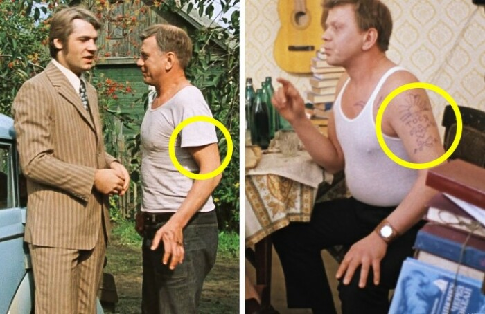 К концу фильма неожиданно появляется татуировка.