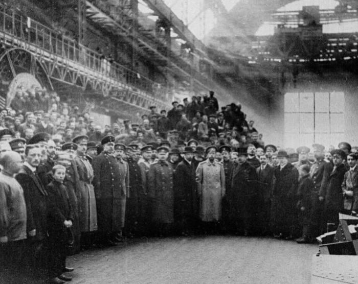 Визит царя на Путиловский завод.