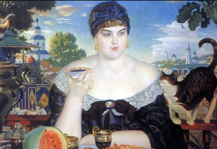 Борис Кустодиев «Купчиха за чаем»