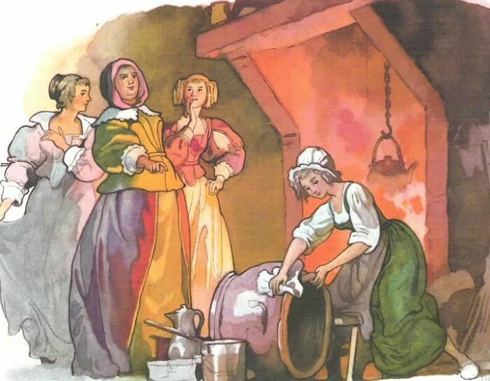 Одна из иллюстраций к сказке Шарля Перро.