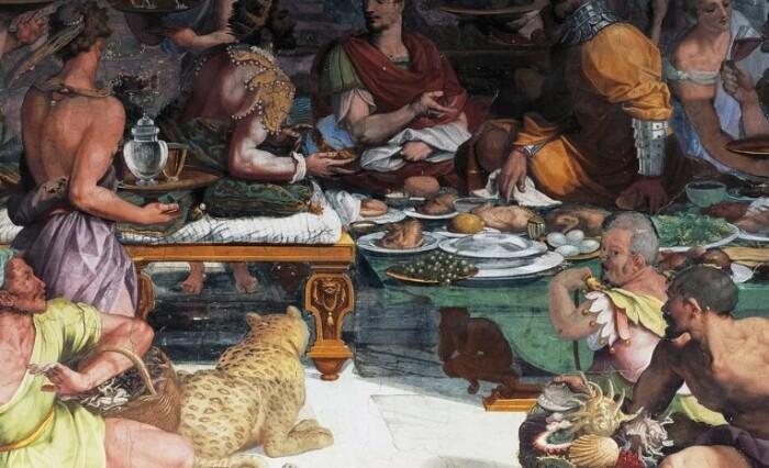 Римлян часто обвиняют в обжорстве.