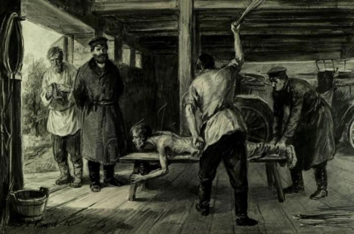 Гиперболизация и гротеск - отличные приемы для описания трудной жизни крестьян.