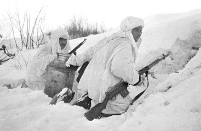 тактика ведения боя зимой заметно отличалась от других сезонов.
