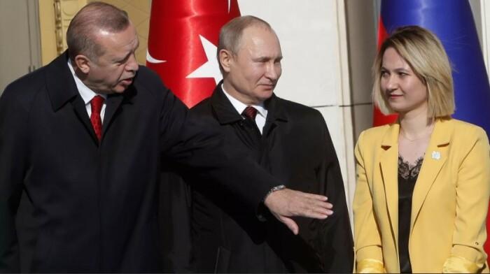Эрдоган уводит девушку у Путина.