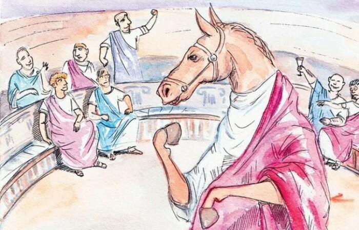 Конь Калигулы, пожалуй, самый известный в истории.