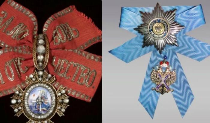 Именно с этих орденов и берет начало деление цветов в России.