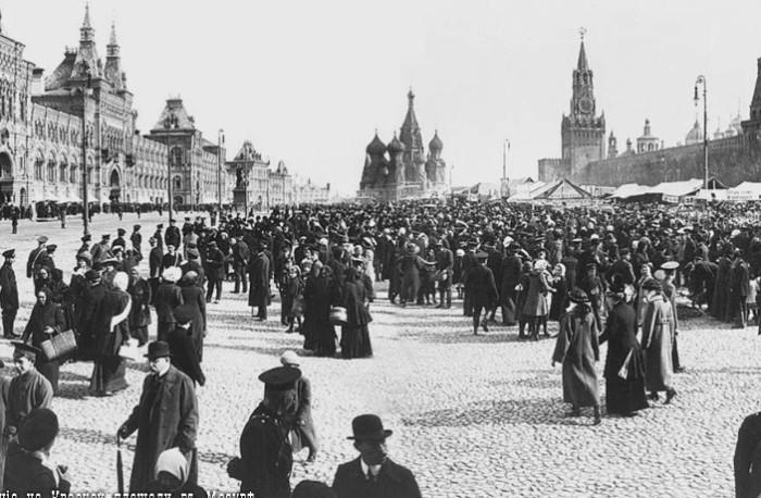 Так выглядела Красная площадь в 1913 году.