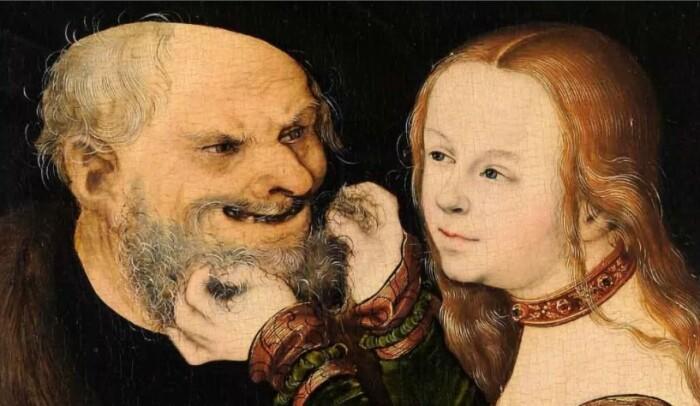 Вероятно, феодал был гораздо старше всех невест.