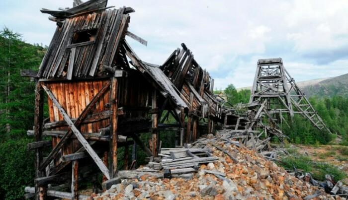 Лагерь на Колыме.
