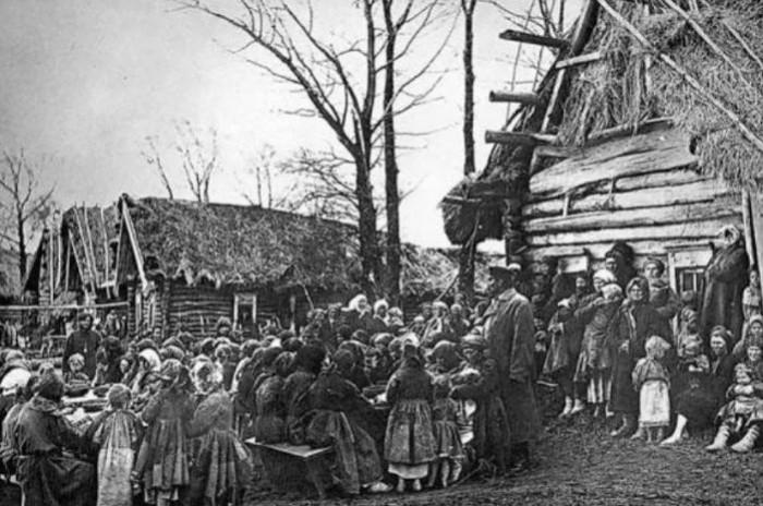 Крестьянская деревня в 1913 году.