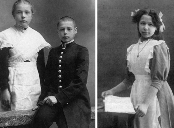 Долгое время школьная форма для мальчиков шилась по военному образцу.