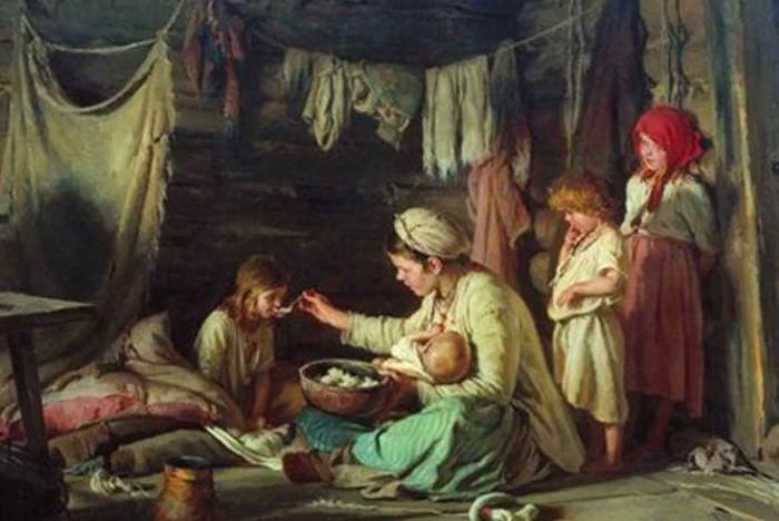 Нередко кормилица оставляла своих детей в ужасных условиях, чтобы растить барчука.