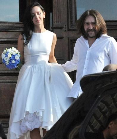 Редкое фото со свадьбы Шнуровых.