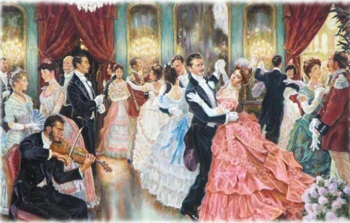 Поскольку в танце всегда ведет кавалер, его танцевальным способностям отводилась заметная роль.