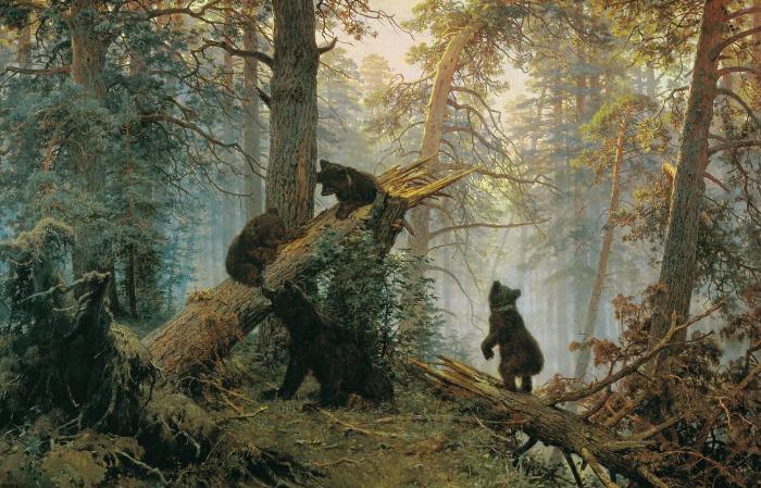"""Иван Шишкин. """"Утро в сосновом лесу""""."""