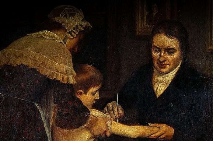 Первая прививка.