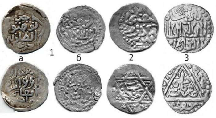 Монеты из серебра.