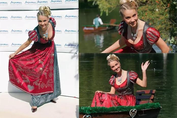 Платье было представлено на одном лишь показе.