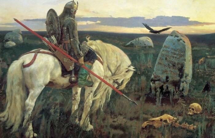 Илья Муромец и знаменитый камень на его пути.