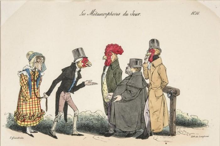 Французская гравюра, высмеивающая традицию англичан.