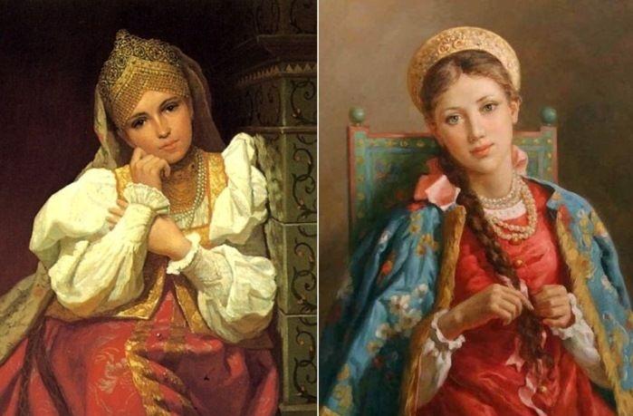 Именно в ту пору русские женщины стали ярко краситься.