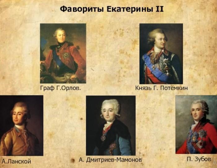 Официальные фавориты последней императрицы.
