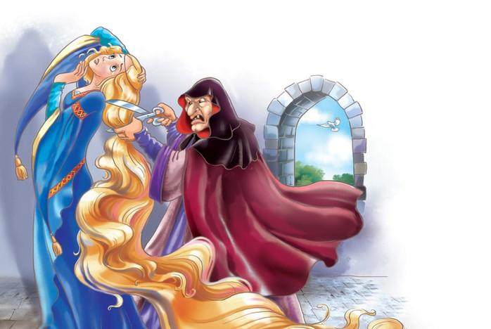 В обоих версиях Рапунцель лишается волшебных волос.