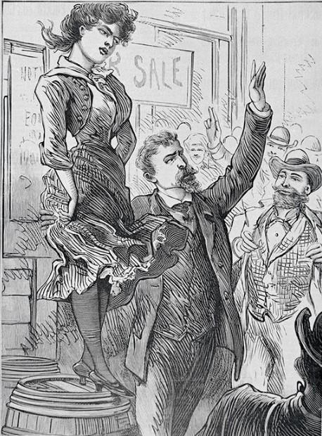 Молодая и красивая женщина могла приглянуться покупателю побогаче.