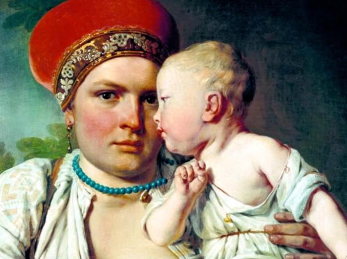 Кормилица должна была олицетворять здоровье и материнство.